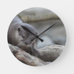 Adorable Otter Round Clock