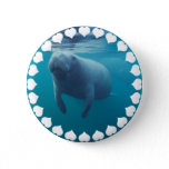 Manatee Round Button