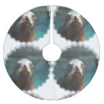 Sea Lion with Whiskers Brushed Polyester Tree Skirt