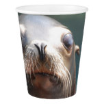 Sea Lion with Whiskers Paper Cup